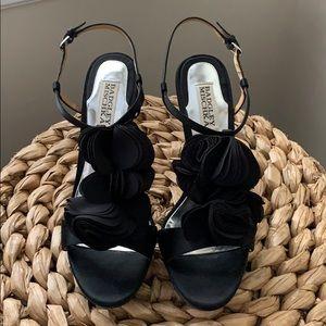 Badgley Mischa Black Satin Heels